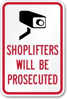 Screenshot of Shoplifter Beware Sign