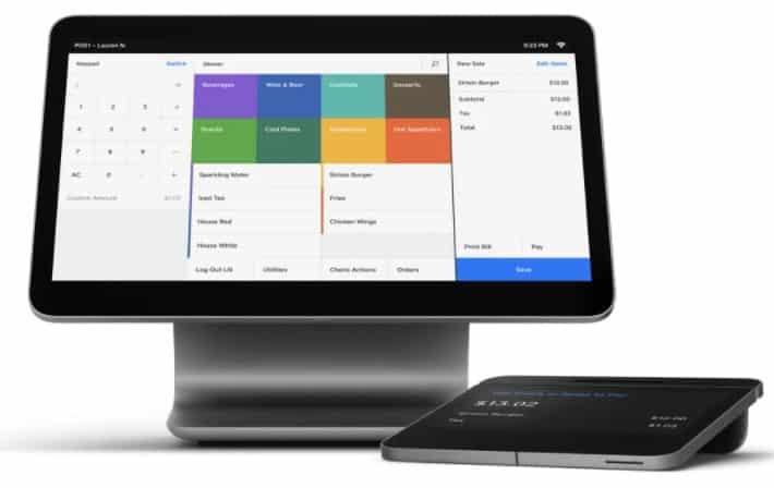 Screenshot of Square for Restaurants Hardware