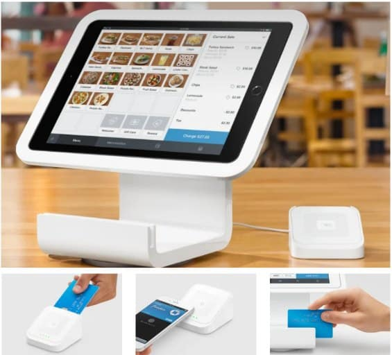 Screenshot of Square iPad Stand Comes with a Contactless and Chip Reader