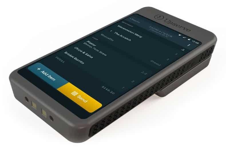 Screenshot of Tableside Upserve Mobile POS