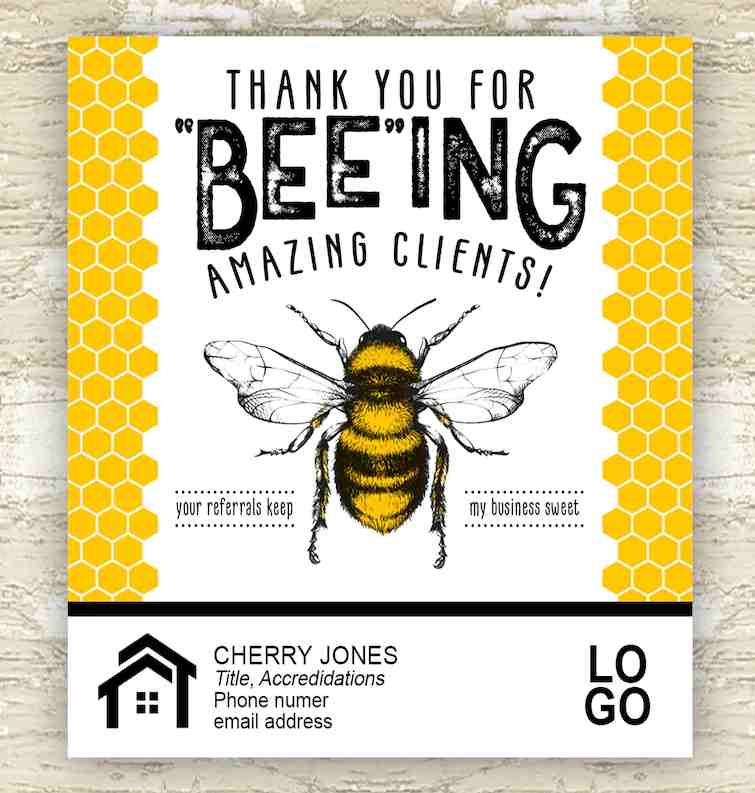 Screenshot of Thank You Card Jar of Honey