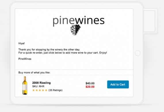 Screenshot of Wine Direct Post Tasting Room