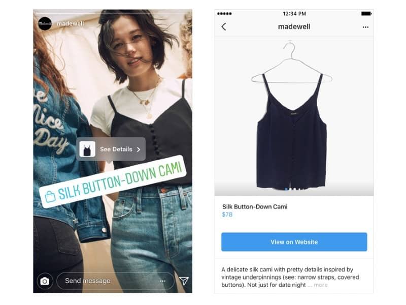 products in Instagram
