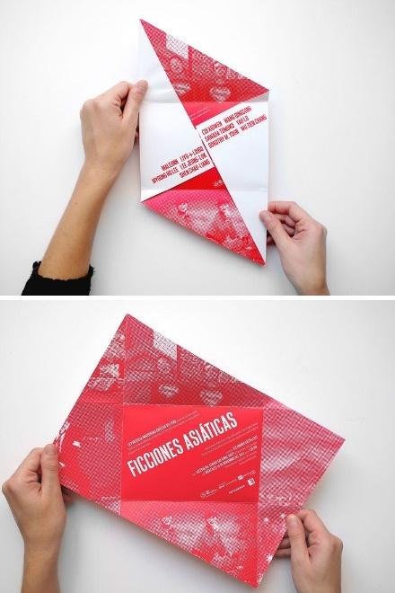 origami-like fold Brochure