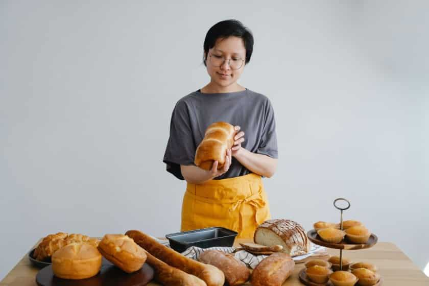 Woman Checking The Bread