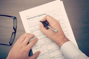 Filling Out Employment Application Form