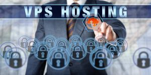 VPS HOSTING on an interactive visual display
