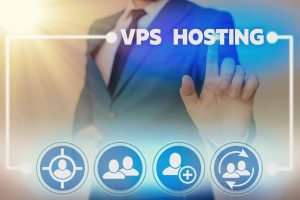 Word writing text Vps Hosting