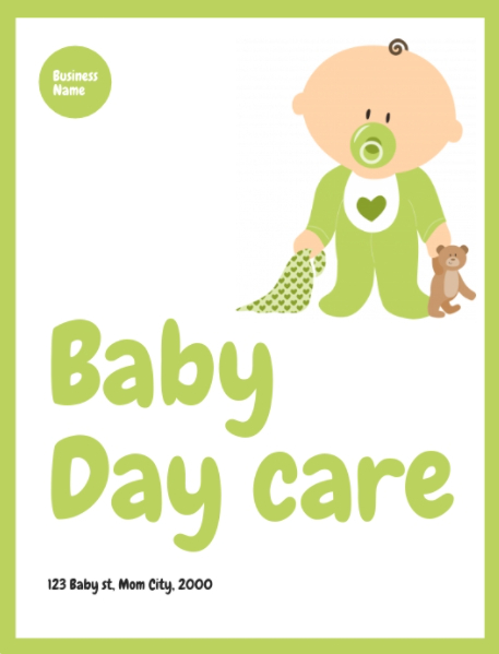 Baby Daycare Flyer