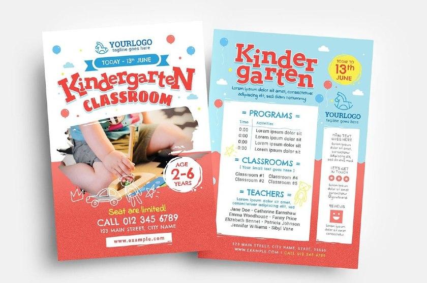Back-to-back Kindergarten Flyer