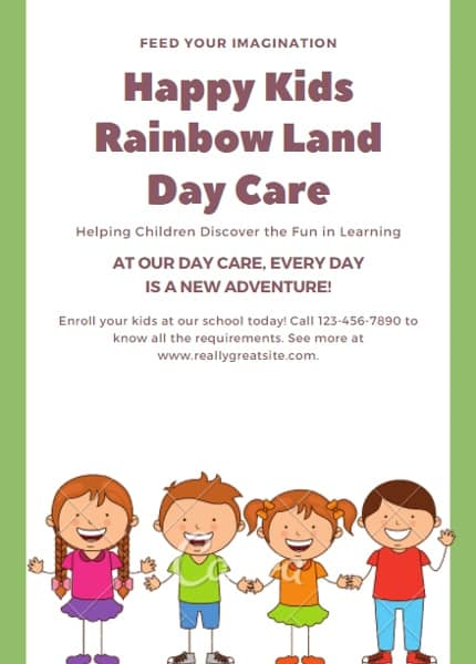 Illustrated Daycare Flyer