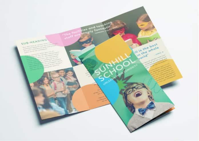 Magazine Quality Preschool Brochure