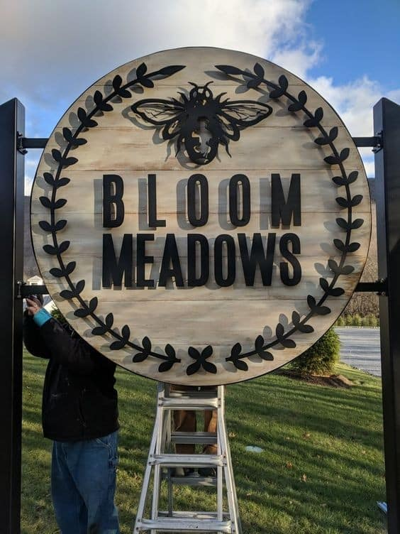 Metal Sign from Neat Hawk Designs