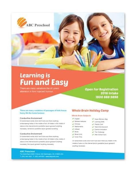 Preschool Education Flyer