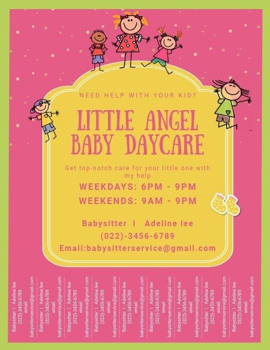 Tear-off Daycare Flyer