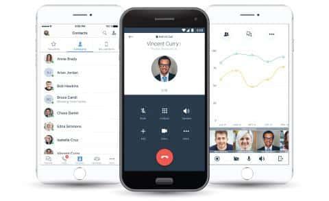 8x8 Mobile App Interface