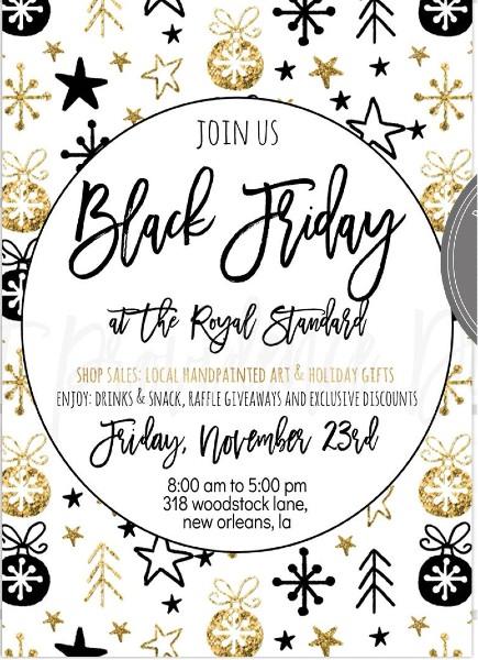Black Friday Sale Invites