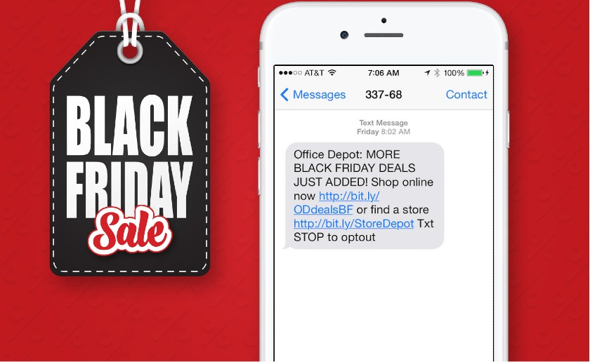 Black Friday Sale SMS Campaign