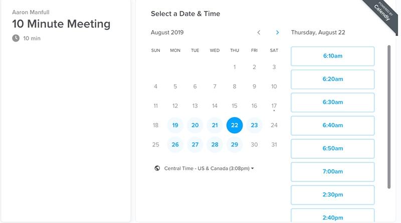 Calendly Schedule Portal