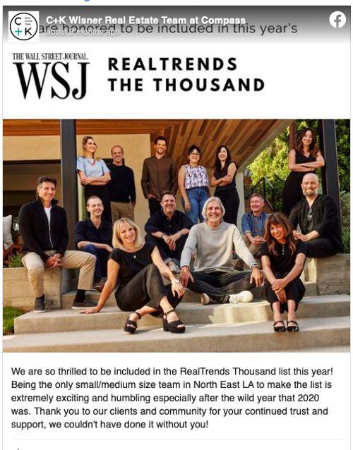 Client Testimonials from C+K Wisner Real Estate Team