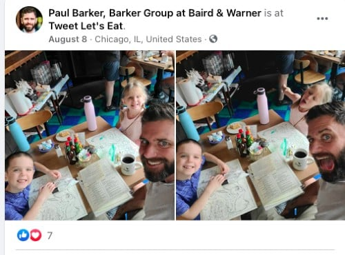 Facebook post from Paul Barker