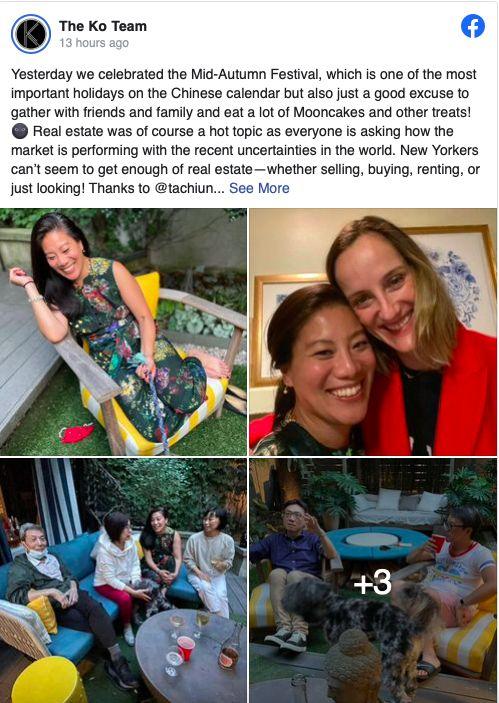 Facebook post from The Ko Team Celebrating Mid-Autumn Festival