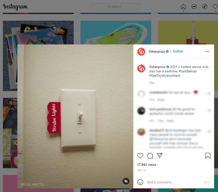 Fisher-Price Instagram Post