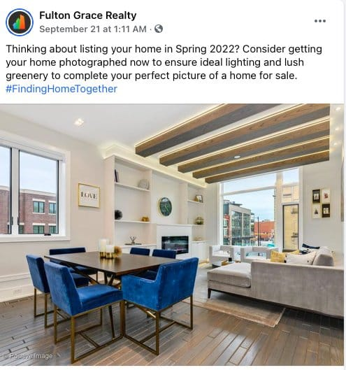 General Real Estate Tips Facebook post from Fulton Grace Realty