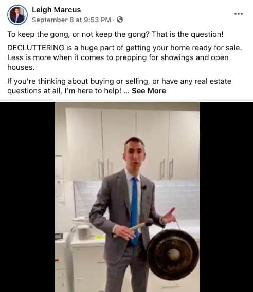 General Real Estate Tips Facebook post from Leigh Marcus