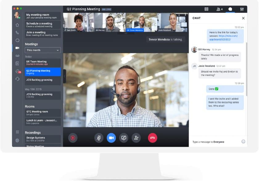GoToConnect Video Conferencing Interface