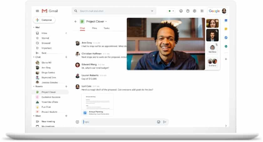 Google Meet Project Clover