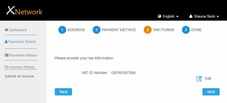 Screenshot of Grasshopper tax compliance example