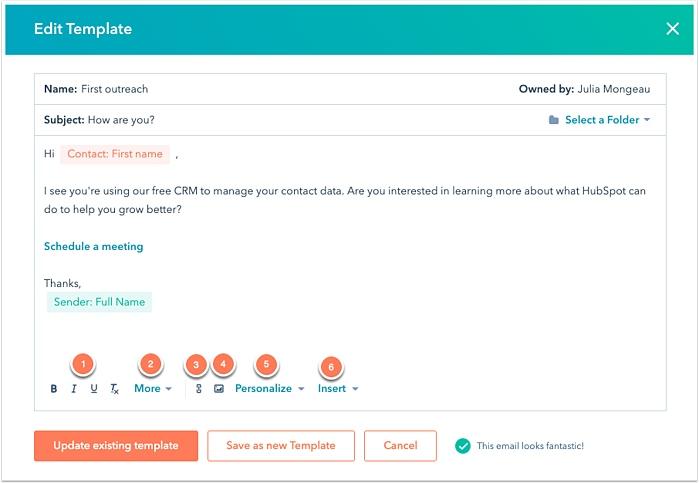 HubSpot Email Template
