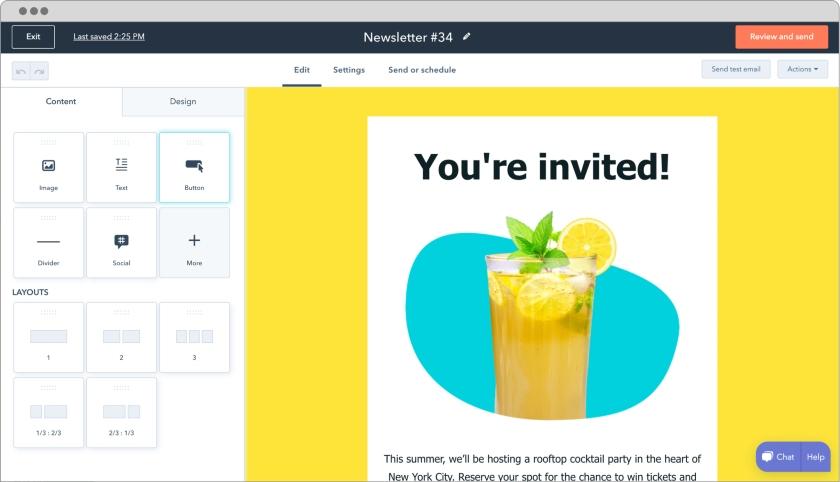 HubSpot Plugin on WordPress newsletters editor