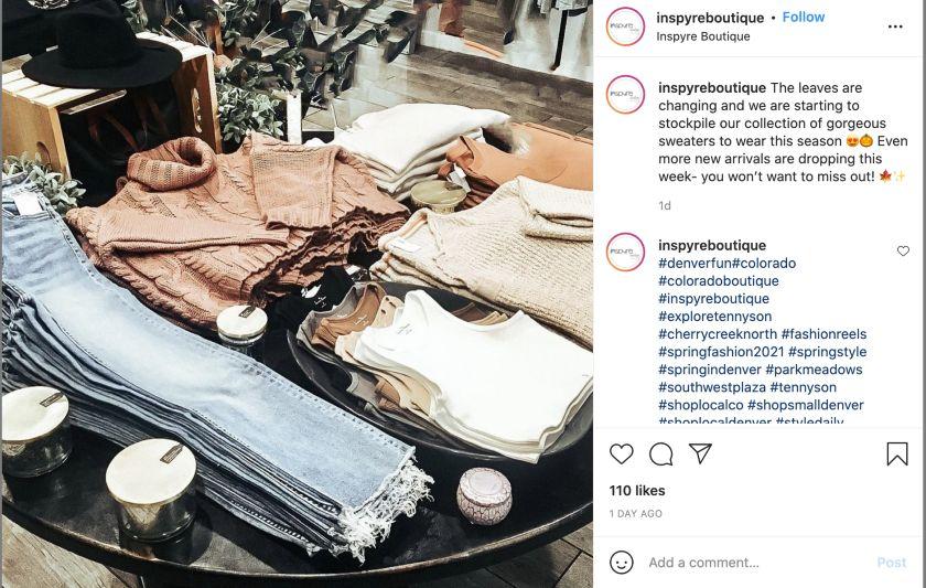 InspyreBoutique Instagram Black Friday Hashtags