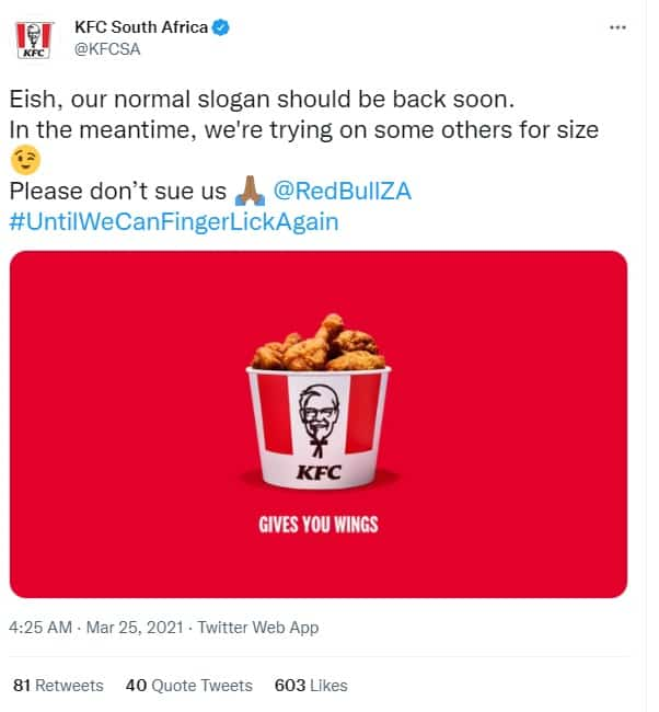 KFC South Africa Brand Slogan