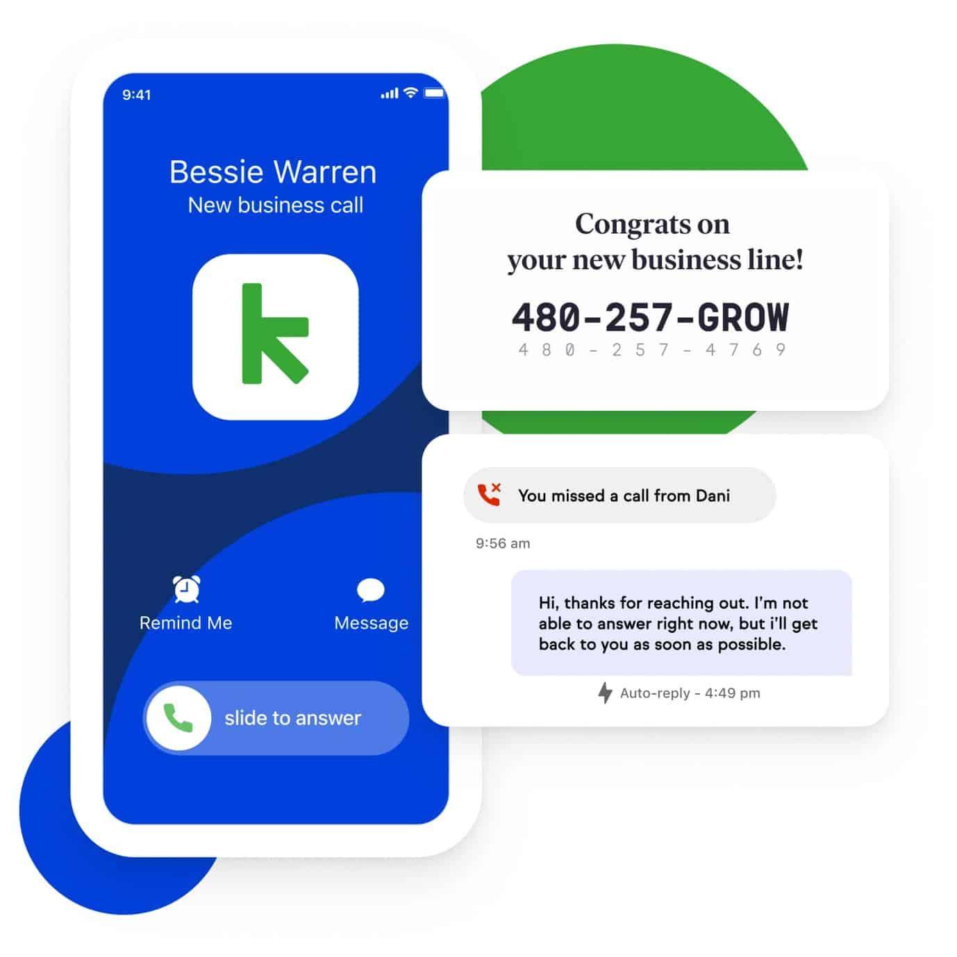 Screenshot of Keap business line