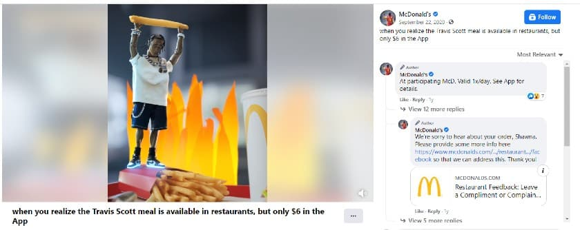McDonald Travis Scott Meal