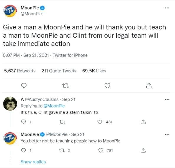 MoonPie trendy tweet