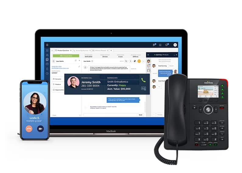 Screenshot of Nextiva communication device