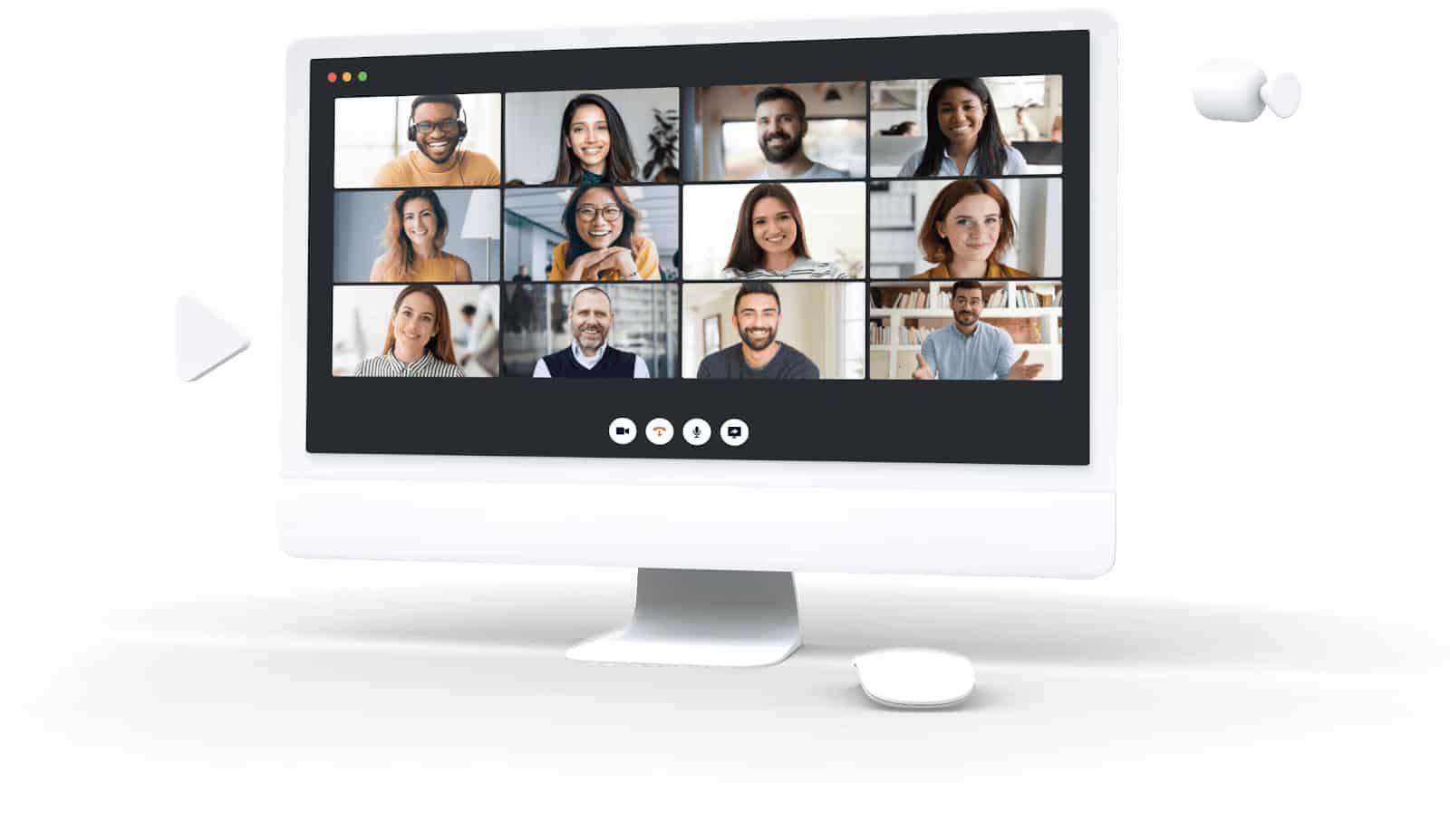 Screenshot of Nextiva video conferencing