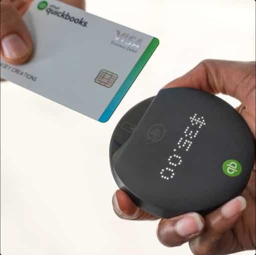 Screenshot of QuickBooks mobile card reader