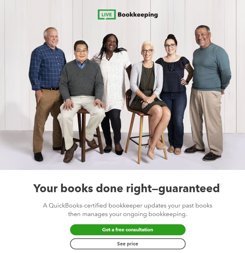 Screenshot of Quickbooks Schedule Free Consultation