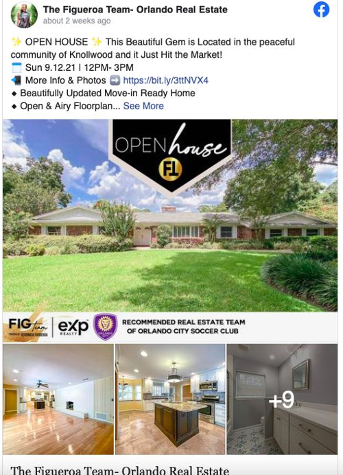 Real Estate Facebook post for Featured Listings from The Figueroa Team