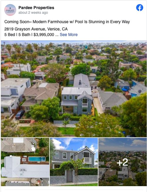 Real Estate Facebook post for Featured Listings from