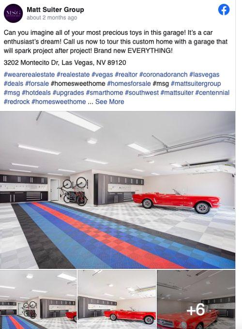Unique Features & Architecture Facebook post from Matt Suiter Group