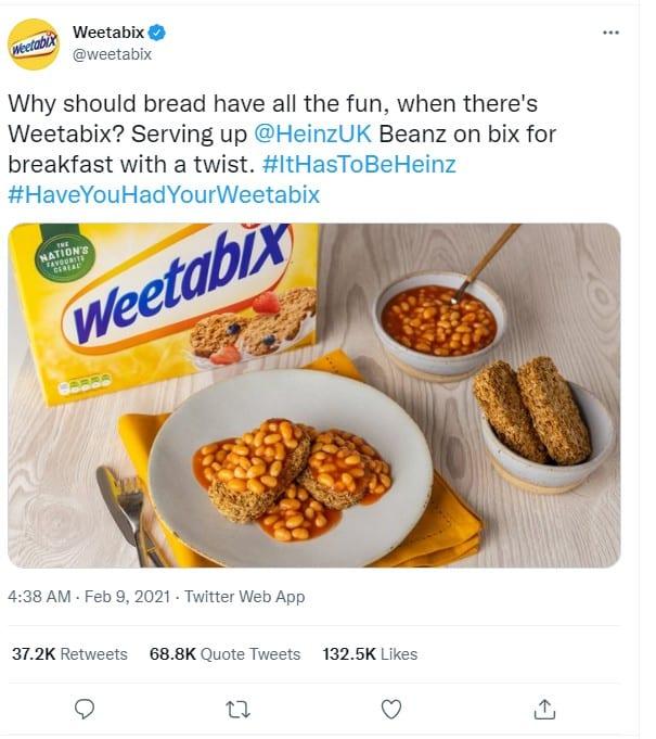 Weetabix Viral tweets