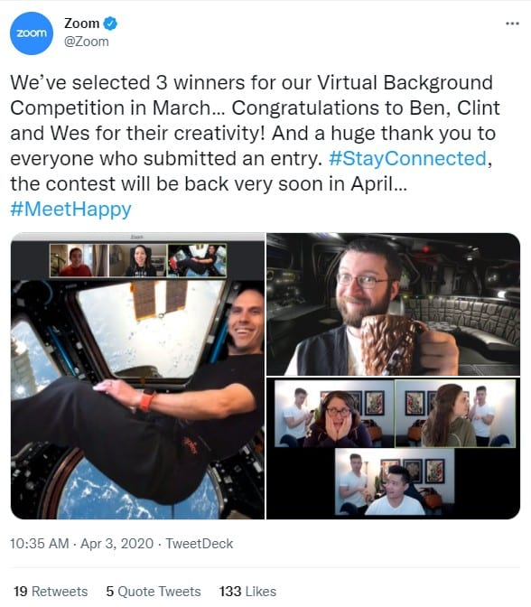 Zoom virtual background contest Winners