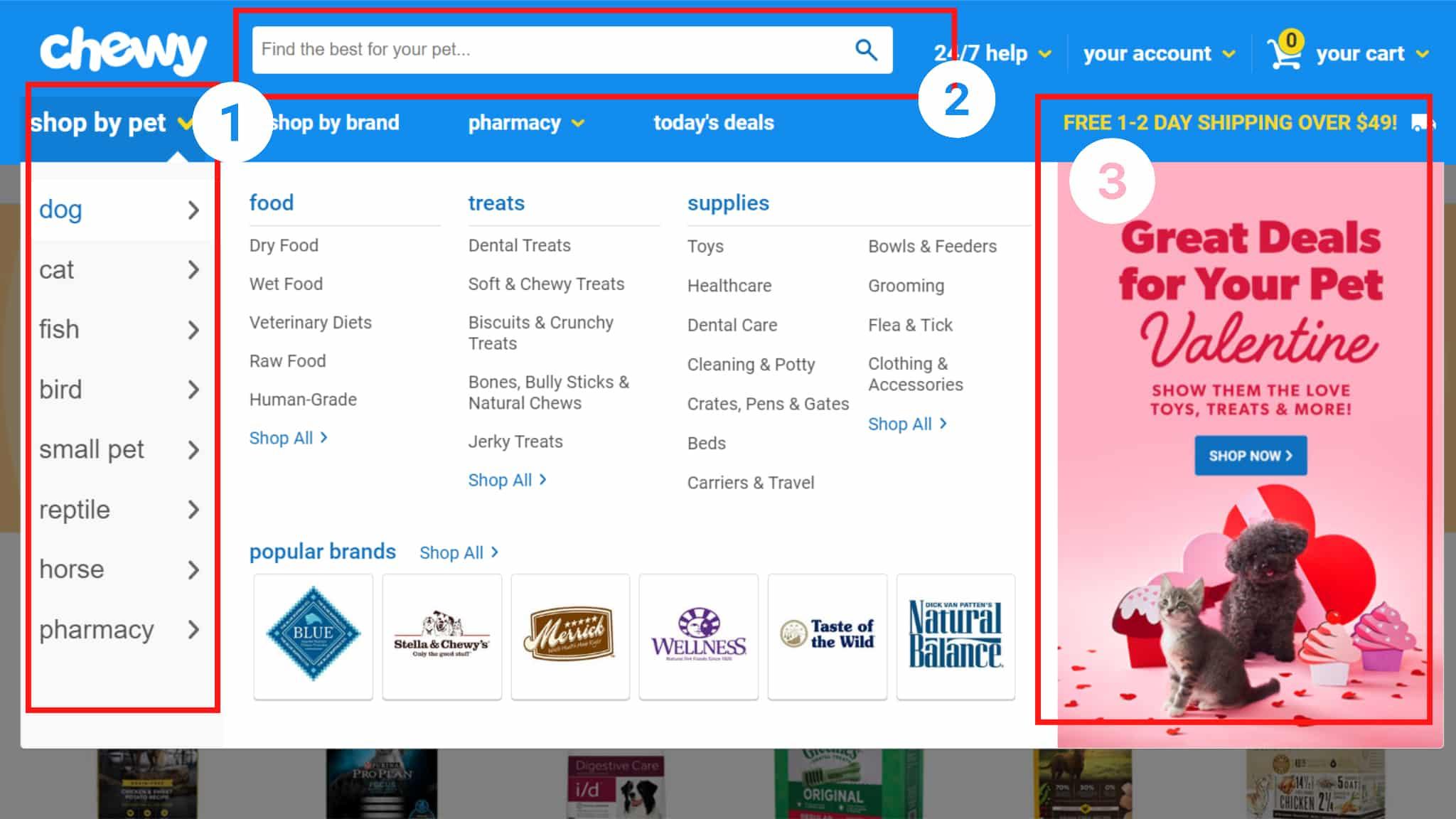 Screenshot of ecommerce store sample