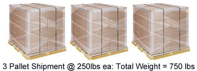 Screenshot of 3 Pallet Shipment